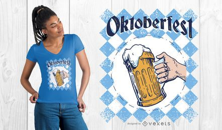Diseño de camiseta gráfica Oktoberfest