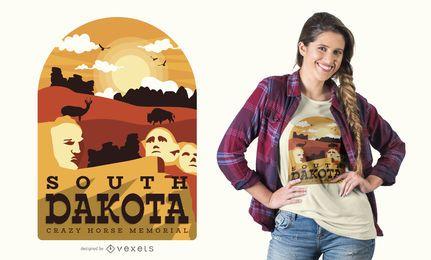 Diseño de camiseta de dakota del sur