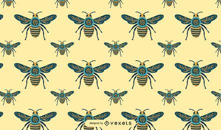 Nahtloses Bienen-Muster-Design