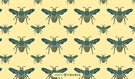 Seamless Bee Pattern Design
