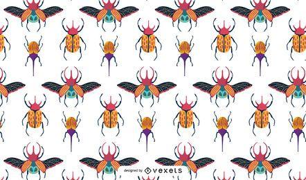 Diseño colorido del patrón de escarabajos
