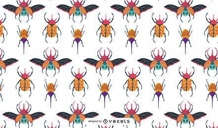 Projeto de padrão colorido de besouros