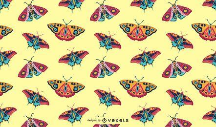 Patrón de mariposas de colores