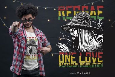 Diseño de camiseta Reggae One Love.