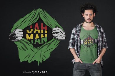 Diseño de camiseta rasgada de reggae