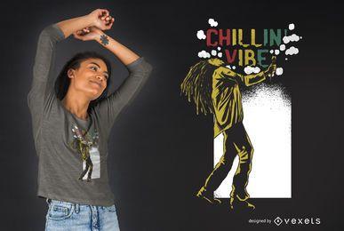 Diseño de camiseta Chilling Vibe