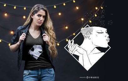 Frau lächelndes T-Shirt Design