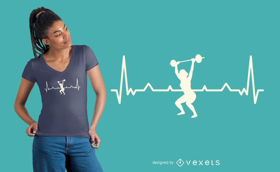 Diseño de camiseta Heartbeat entrenamiento