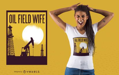Oil Field T-shirt Design