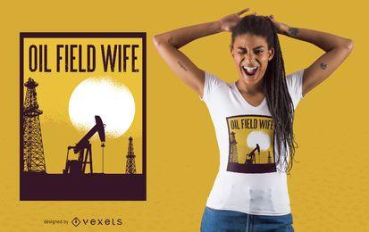 Projeto do t-shirt do campo petrolífero