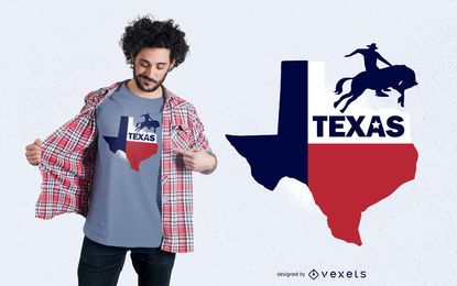 Projeto do t-shirt do estado de Texas