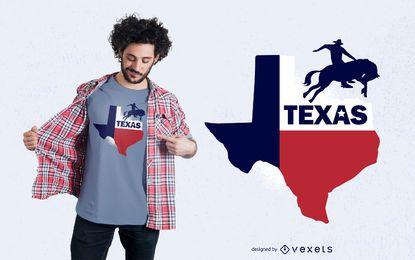 Projeto do t-shirt do estado de Texas