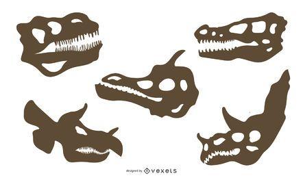 Dinosaurier Knochen Silhouette