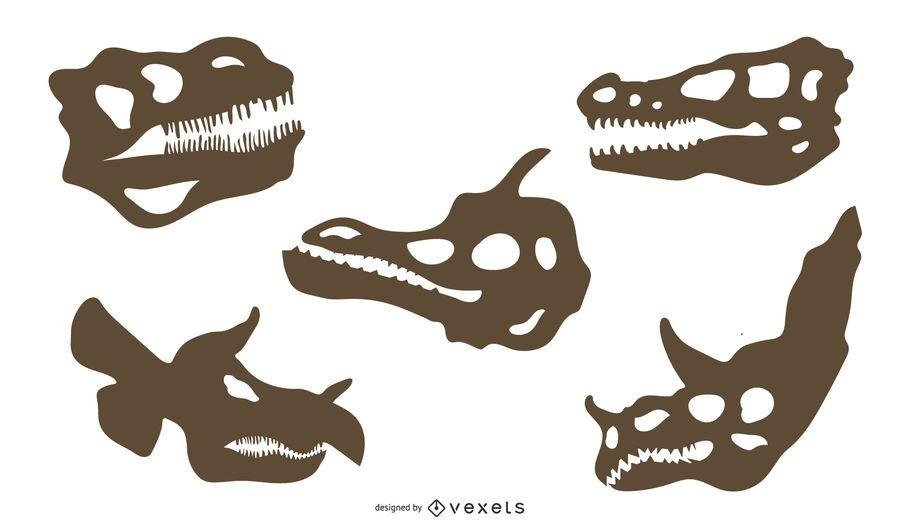 Silueta de hueso de dinosaurio
