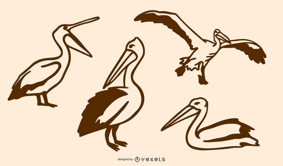 Pelican Doodle Set