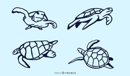 Sea Turtle Doodle Design
