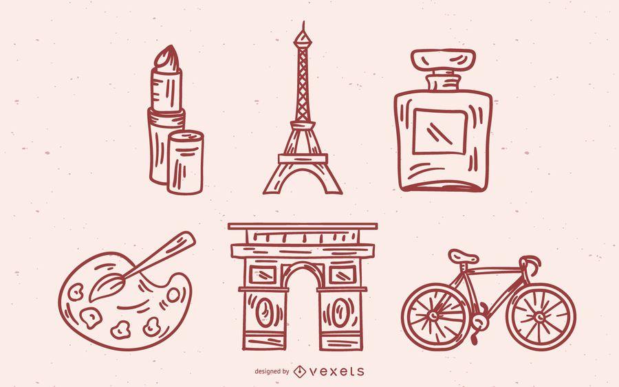 Design de traçado de elementos franceses