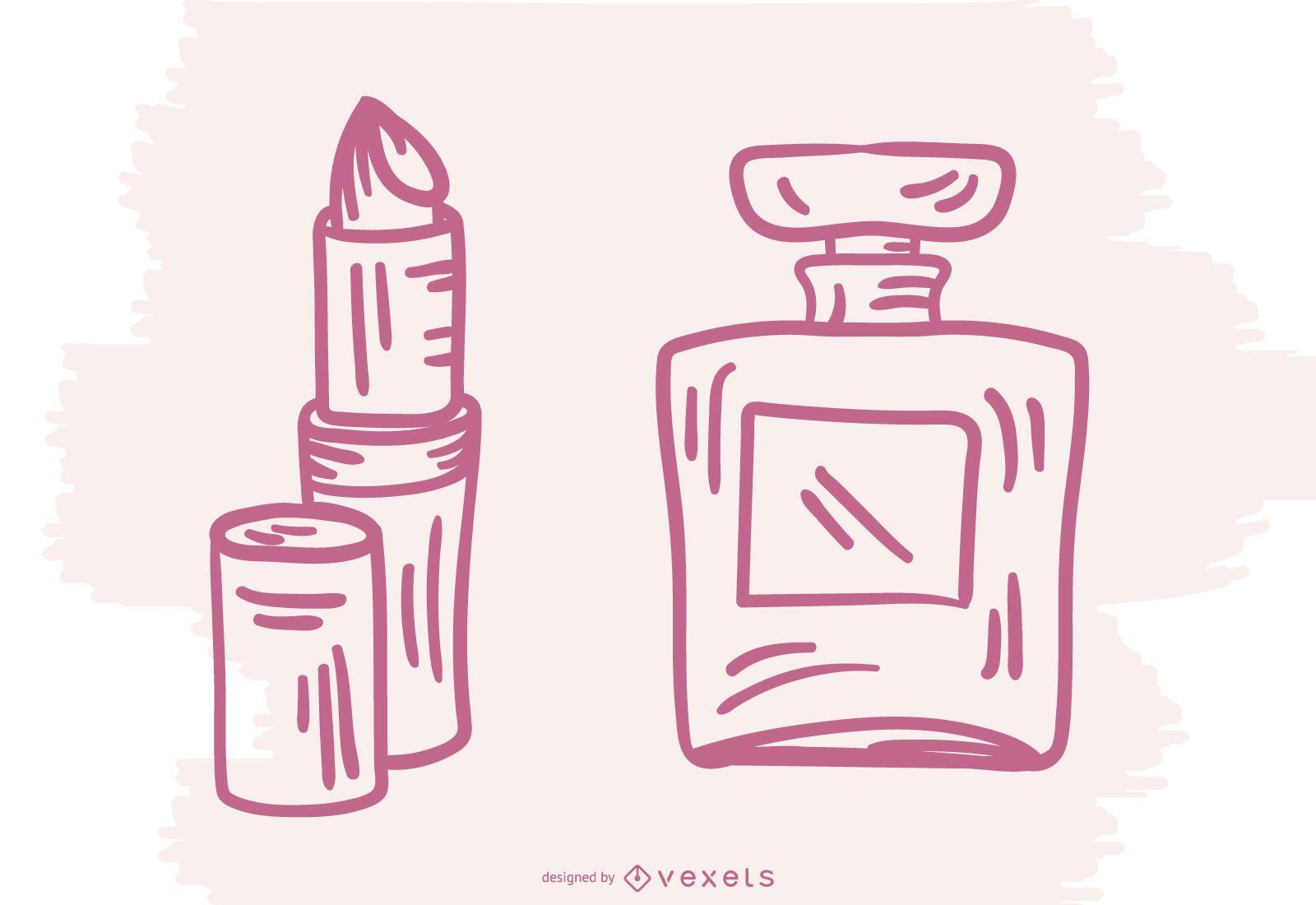 French Makeup Stroke Design