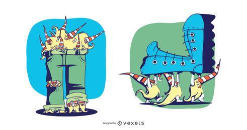 Gnome, die Kleidungs-Illustration stehlen