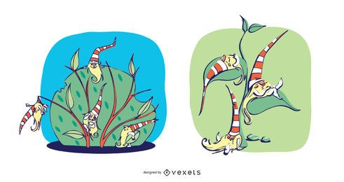 Schläfrige Gnome Illustration