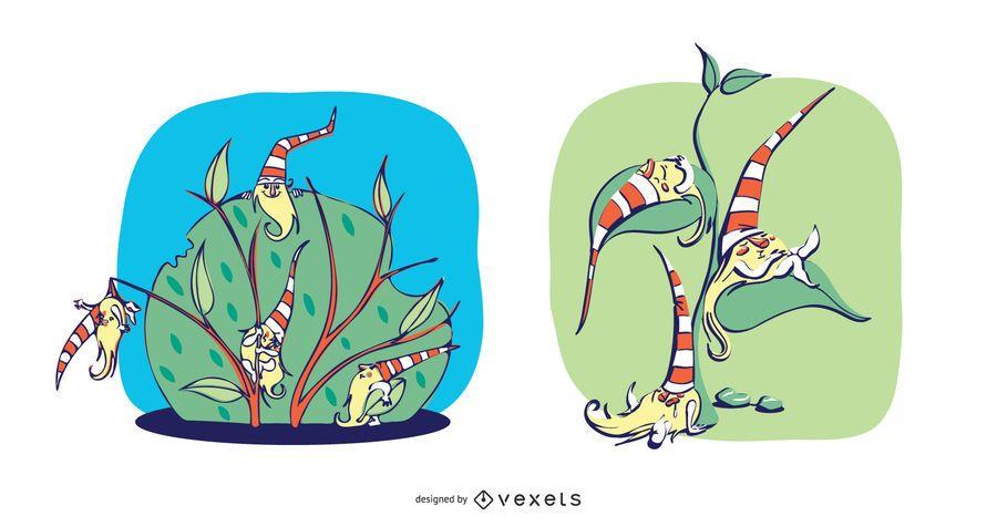 Sleepy Gnome Illustration