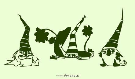Gnomes Silhouette Design