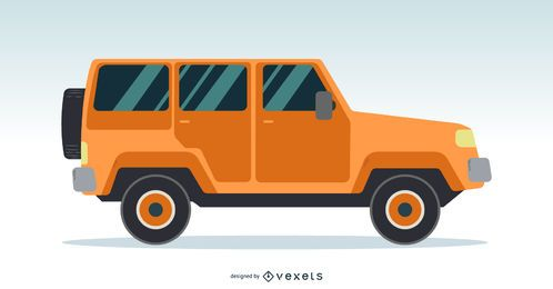 Jeep Side View Design