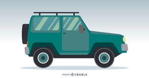 Design de vetor de caminhão jipe