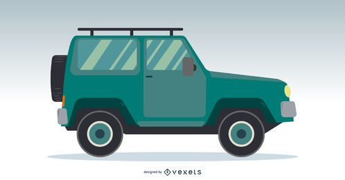 Jeep-LKW-Vektor-Design