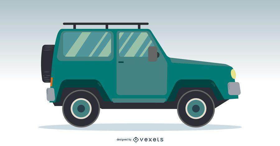 Jeep-LKW-Vektor-Design