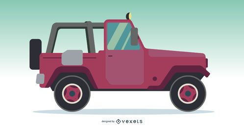 Vector de coche todoterreno Jeep Truck