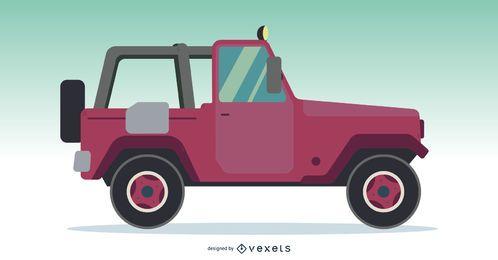 Vetor de carro de caminhão off-road Jeep