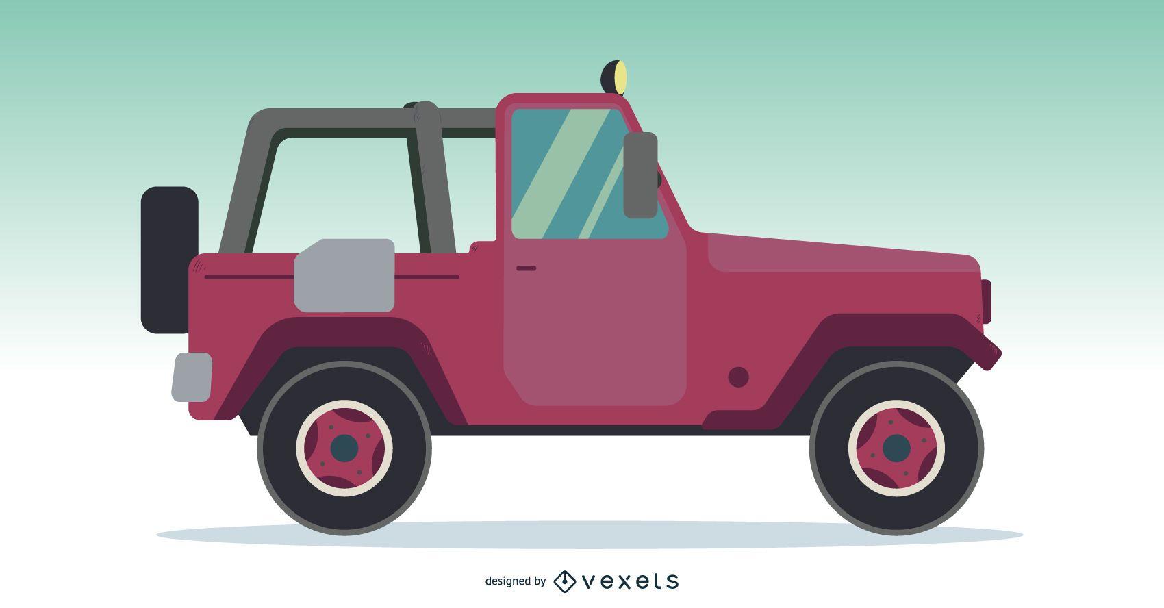 Off-road Jeep Truck Car Vector