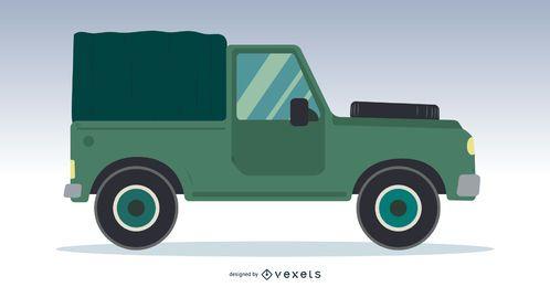 Diseño de vectores de camiones todoterreno