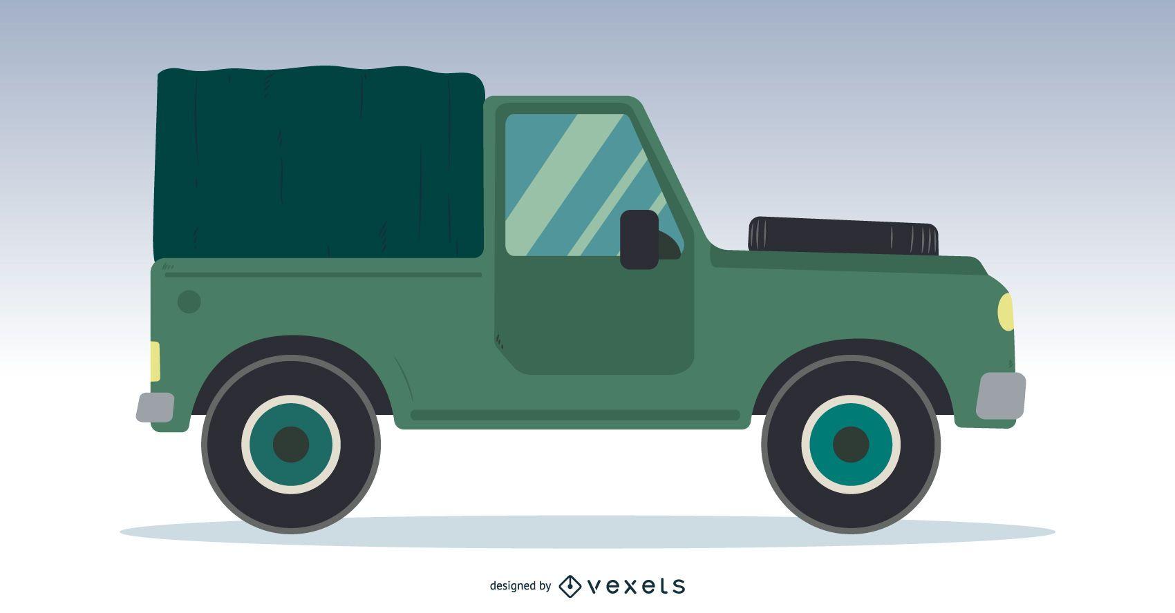 Off-road Truck Vector Design