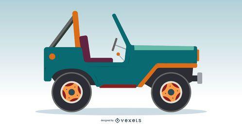 Diseño clásico del vector del jeep