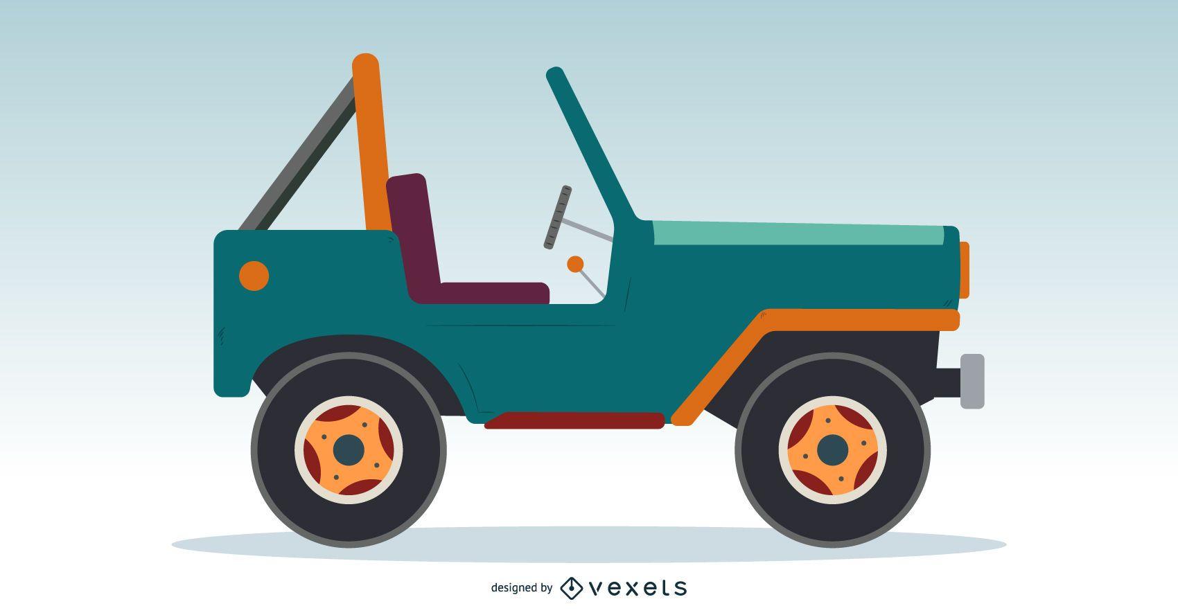 Diseño clásico Jeep Vector