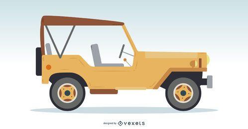 Ilustração de carro clássico