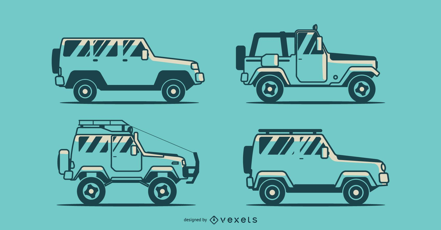 Jeep Truck Vector Pack