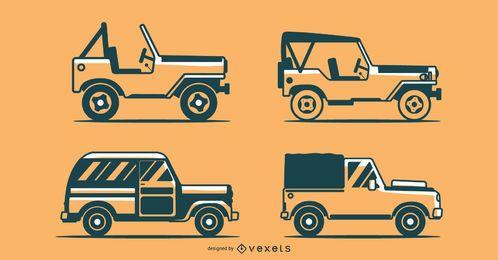 Colección de vectores de vehículos todoterreno