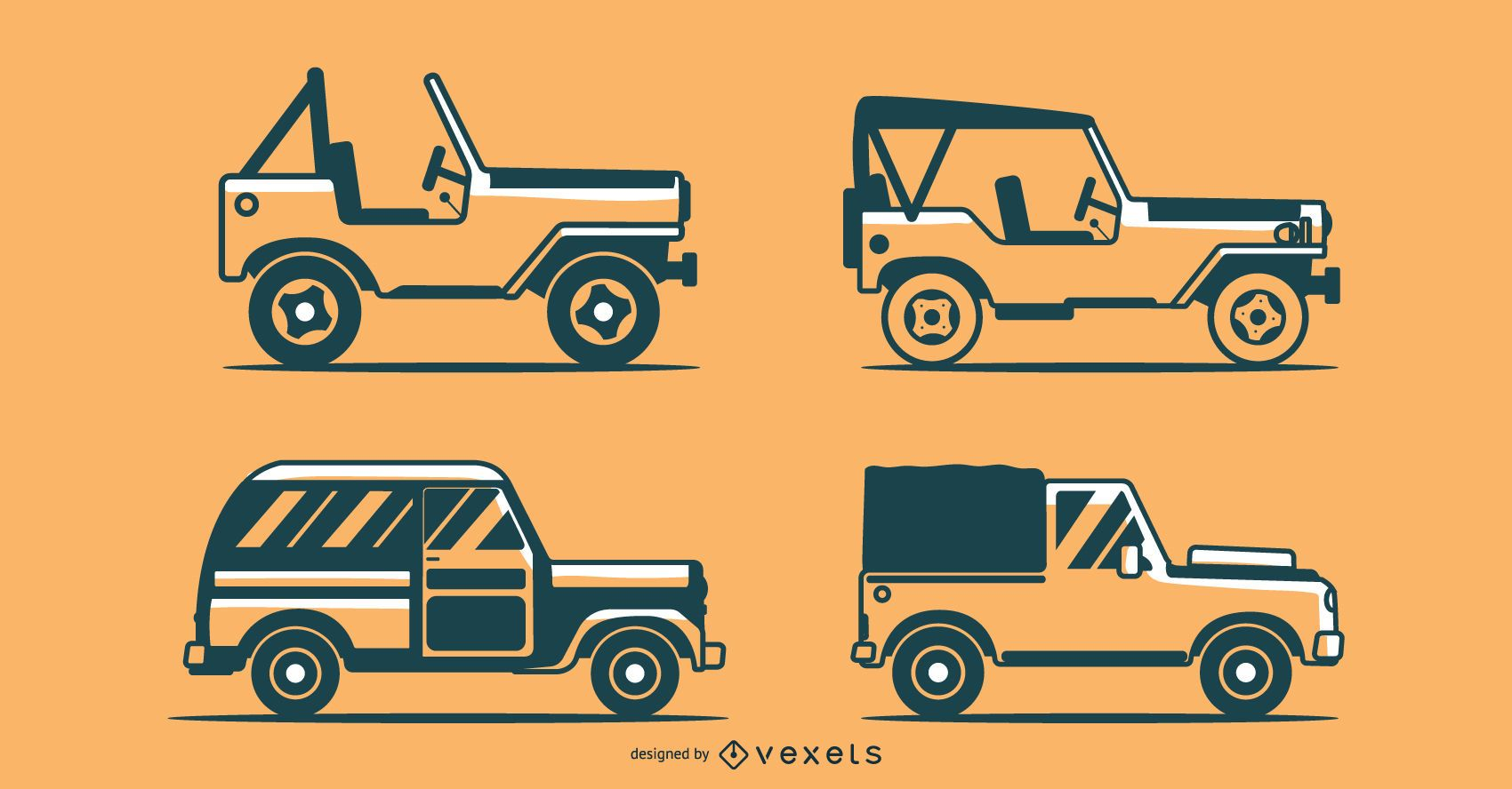Off-road Vehicle Vector Collection