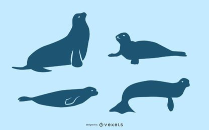 Seal silhouette set