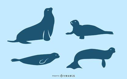 Seal silhouette set