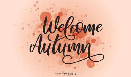 Bem-vindo Outono respingo letras