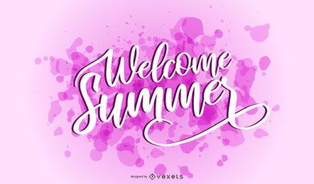 Bem-vindo verão respingo letras