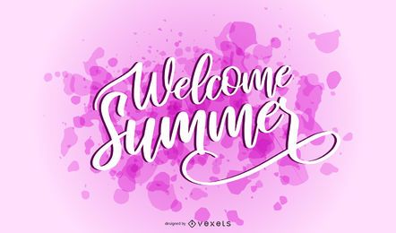 Welcome summer splash lettering