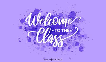 Letras de boas-vindas classe respingo