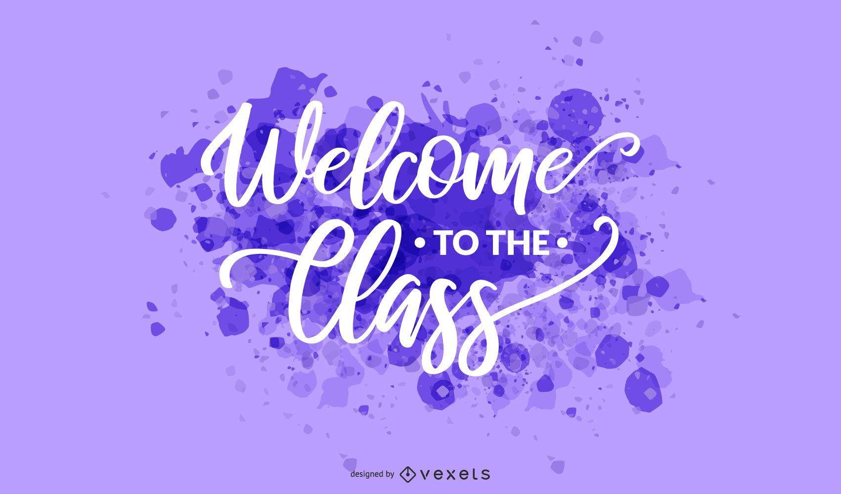 Bienvenida clase splash letras