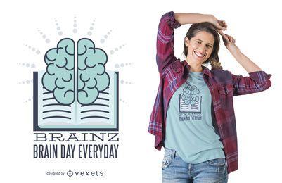 Diseño de camiseta de aprendizaje cerebral