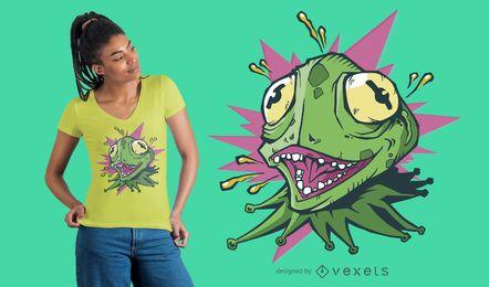Verrückter Eidechsen-T-Shirt Entwurf
